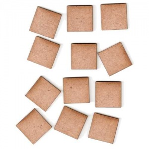 Square Shape - Mini MDF Wood Plaques