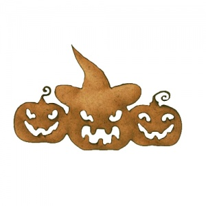 Three Scary Pumpkins MDF Wood Shape
