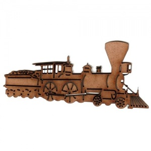 Steam Locomotive with Coal Bunker - MDF Wood Shape