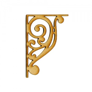 MDF Wood Corner Style 4 - Scroll Flourish