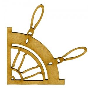 MDF Wood Corner Style 18 - Ship's Wheel