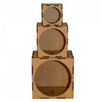 Artist Trading Block Stack Kit - Set of 3 Round Aperture Cubes