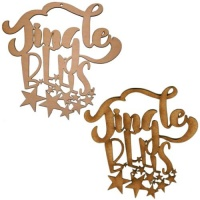 Jingle Bells - Decorative MDF & Birch Ply Wood Words - LARGE