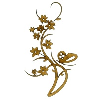Flowering Vine & Butterfly - Decorative Flourish Style 28