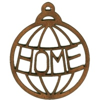 Home  - Christmas Word MDF Bauble