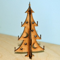 3D Christmas Tree MDF Wood Kit - Style 1
