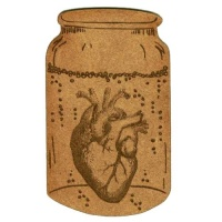 Apothecary Jar with Heart - MDF Wood Shape