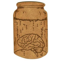 Apothecary Jar with Brain - MDF Wood Shape