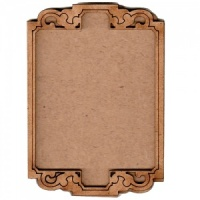 Shaped ATC Wood Blank with Engraved Scroll Frame