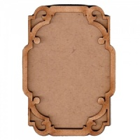Shaped ATC Wood Blank with Scroll Cut Out Frame
