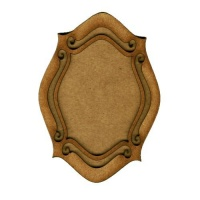 Shaped ATC Wood Blank with Open Scroll Frame