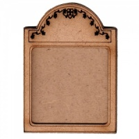 Shaped ATC Wood Blank with Engraved Floral Frame