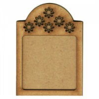 Shaped ATC Wood Blank with Mini Snowflake Frame