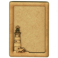 Plain ATC Wood Blank with Lighthouse Frame