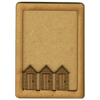 Plain ATC Wood Blank with Beach Huts Frame