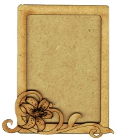 Plain ATC Wood Blank with Lily & Scroll Frame