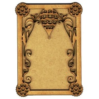 Plain ATC Wood Blank with Hot Air Balloon Frame