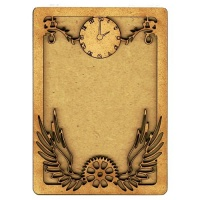 Plain ATC Wood Blank with Time Flies Frame