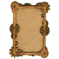 Plain ATC Wood Blank with Clock Wheels & Cogs Frame