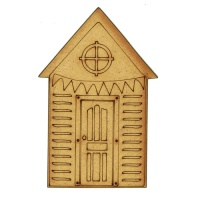 Round Window Beach Hut - MDF Wood Shape