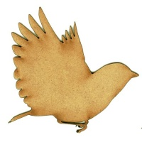 Bluebird - MDF Wood Bird Shape