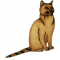 Short Haired Cat with Striped Tail - MDF Wood Shape