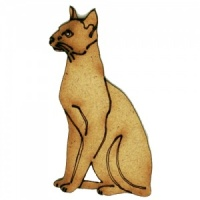 Smooth Haired Cat - MDF Wood Shape