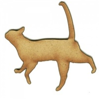 Chilled Out Cat Silhouette - MDF Wood Shape