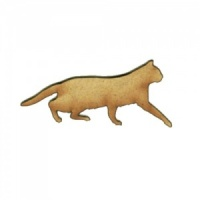Stalking Cat Silhouette - MDF Wood Shape