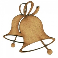 Christmas Bell MDF Wood Shape - Style 4