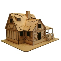 Christmas Cabin - MDF House Kit