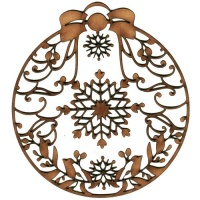 Snowflakes & Swirls - Round MDF Lace Cut Bauble