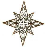 8 Pointed Star - MDF Lace Cut Bauble