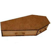 MDF Coffin Kit with Handles