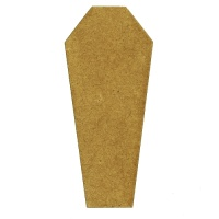Coffin Silhouette - MDF Wood Shape