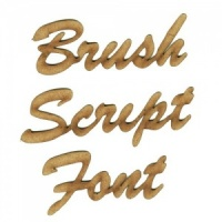 Brush Script MDF Wood Font - Create A Word - Max 4 Letters