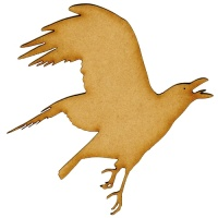 Flying Crow MDF Wood Bird Shape