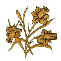 Trio of Daffodils MDF Wood Shape