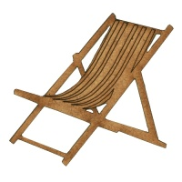 Deck Chair MDF Wood Shape