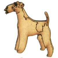 Wire Haired Fox Terrier - MDF Wood Dog Shape