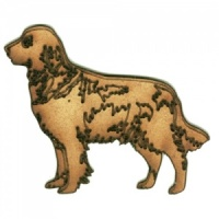 Golden Retriever - MDF Wood Dog Shape