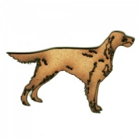 Red Setter - MDF Wood Dog Shape