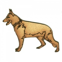 German Shepherd - MDF Wood Dog Shape
