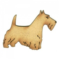Scottish Terrier - MDF Wood Dog Shape