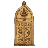 Fortified Door with Coat of  Arms -  MDF Wood Shape