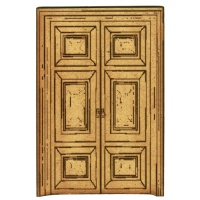 Panelled Double Doors - MDF Wood Shape