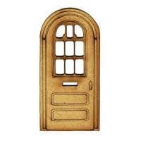 Arched Door with Window Panel - MDF Wood Shape