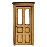 Panelled Door with Frame - MDF Wood Shape