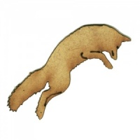 Leaping Fox MDF Wood Shape Style 8