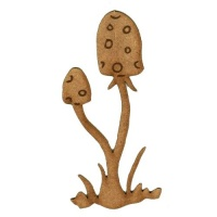 Duo of Spotted Toadstools  - MDF Wood Shape